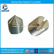 DIN553, tornillos de fijación ranurados ISO7434 con punta cónica
