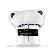 Toalla con capucha Baby Girl Boy Toalla de baño orgánica de bambú puro Almohadilla antibacterial altamente absorbente con orejas de oso Baby Shower