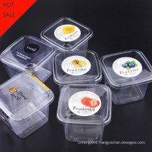 Pet Clear Plastic Compartment Take Away Salad Food Container Tray 7