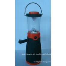 Plastic Rechargeable Crank 4LED Dynamo Flashlight (DL-5008)