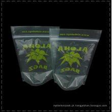 Sacos de chá Transparente Levante-se a impressão do chá Poular folha de alumínio ou Plástico Impressão personalizada sacos de chá verde folhas