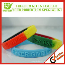 Top Quality Customized Logo Mix Colored Rubber Wristband