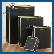Black Paper Bag with White Border (DM-GPBB-076)