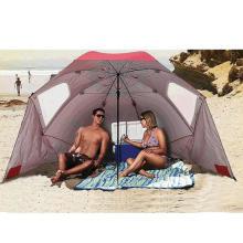 Wholesale Europe and America 8-foot Portable beach sun umbrella Multifunctional outdoor umbrella tent