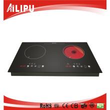 Cocina de inducción manual superior de la estufa eléctrica de dos hornillas 2015