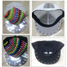 Remaches de plástico y de metal mezcla tacon snapback tapa sombrero de moda