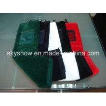 Solid Color Golf Towel with Mesh Pocket (SST0317)