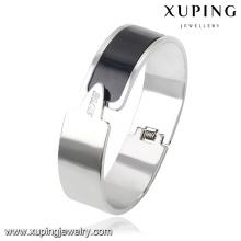 51547 Brazalete de joyería de acero inoxidable de alta calidad simple de moda para las mujeres