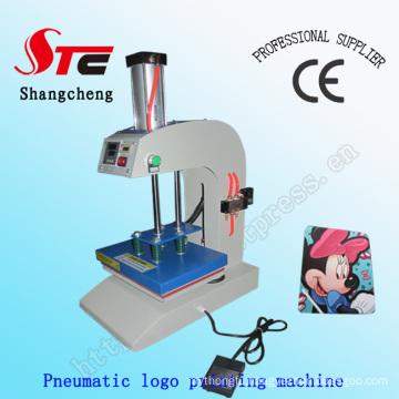 CE Certificate Automatic Pneumatic Logo Printing Machine T-Shirt Single Station Heat Transfer Machine Stc-Qd11