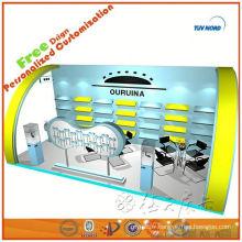 Le modèle modulaire montrent le matériel d'exposition pour le stand d'exposition de stand d'exposition pour l'exposant