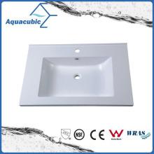Sanitary Artificial Marble Rectangular Bathroom Basin Acb7502