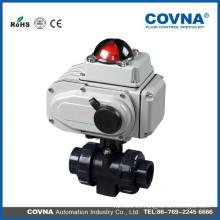 Válvula de bola eléctrica de la piscina del agua de la válvula de PVC del pvc
