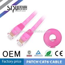 SIPU preço de fábrica de alta velocidade de cobre ethernet flat cat 6 cabo patch cable para computador