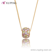 32413-Best Selling Crystal Ball Diamond CZ 18k Gold Plated Jewelry Pendant Necklace