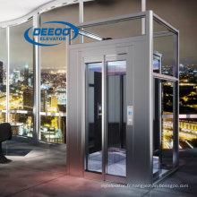 Ascenseur en verre pour passager à usage domestique