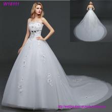 Schönheits-Abschlussball-Spitze-handgemachtes Fußboden-Längen-Tulle-Ballkleid-Brauthochzeits-Kleid