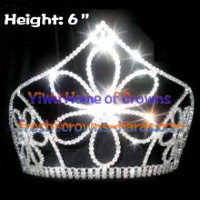 Big Flower 6inch Crystal Crowns
