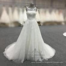 Элегантные линии белый свадебное платье 2017 alibaba Китай свадебные платья