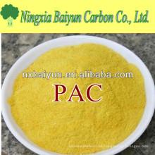 28% -30% de polímero inorgánico pac Polialuminio de cloruro de polvo