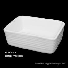 Rollin Luxury restaurant ceramic sugar basin, sugar & creamer pot wholesale