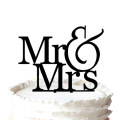 Romantic Mr & Mrs Silhouette Wedding Cake Topper