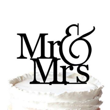 Romántico Mr & Mrs Silhouette Wedding Cake Topper