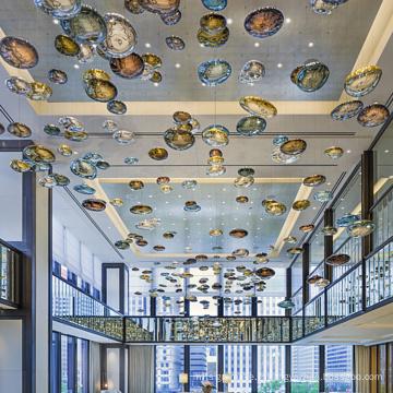 Le projet d'hôtel de lustres de boule de luxe a mené la lumière