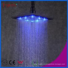 """Fyeer - Cabeza de ducha de lluvia LED cuadrada, auto alimentación, 8 """", negro"""