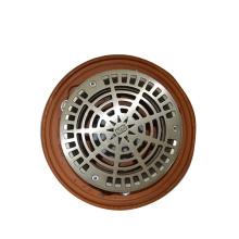 Round adjustable strainer with cast iron body