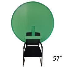 Studio zusammenklappbarer Musselin Greenscreen-Hintergrund