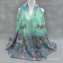 Always hot Selling whosale fashion basic screening printed butterfly floral hijab cap abaya fashion hijab store
