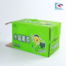 Caja de empaquetado corrugada de las bebidas de fruta de encargo del precio más bajo