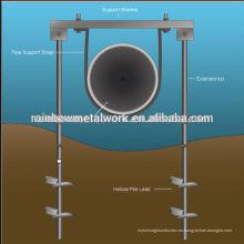 Sistema de anclaje de tornillo de tubería
