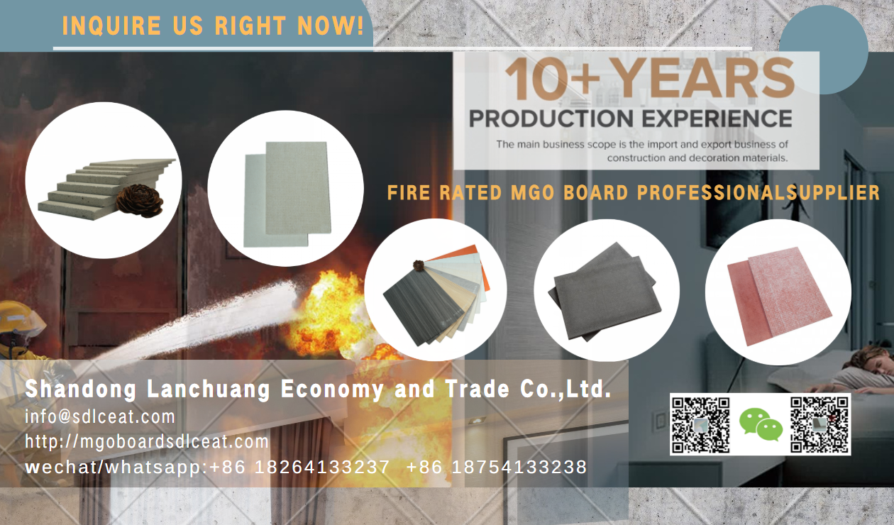 fire retardant magnesium oxide board uk