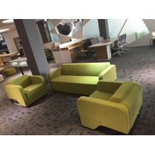 Sofa récréatif vif de vert d'Apple minimaliste de tissu réglé pour le travail de bureau