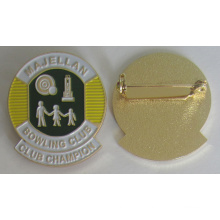 High Quality Metal Soft Enamel Badge Pin with Safety Pin (badge-207)