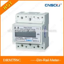 DRM75SC однофазный предоплаченный kwh meter lcd display