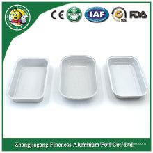 Envase de comida rápida disponible de plata superventas del color de plata