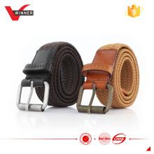 Branded woven stretch belts
