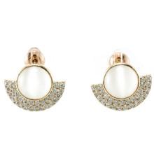 Nuevo diseño para el pendiente de la perla de la mujer 925 joyería de plata (E6509)