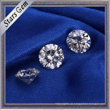Vendas diretas da fábrica Rodada Brilhante Cut White Cor Moissanite Diamante para Jóias Anel