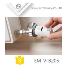 EM-V-B205 Soupape de radiateur thermostatique en laiton de polissage