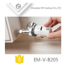 EM-V-B205 Polishing brass thermostatic Radiator Valve