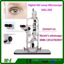 MSL-2ER Equipement ophtalmique Microscope à stéréoscope convergent Microscope à lampe à fente bon marché