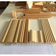 puerta jamba molduras de madera chinas Linyi Baiyi Madera
