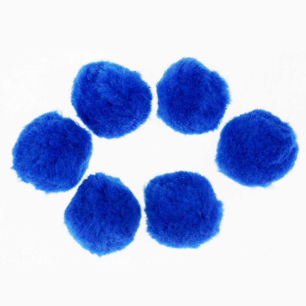 Jumbo Acrylic Pompom ball blue assorted