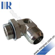 90 Elbow Jic / Orfs Adaptateur Hydraulique Mâle avec Fil Nptf Creux (1JO9-NPTF)