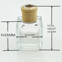Fabricante 50ml 100ml 150ml aroma quadrado vazio reed difusor garrafa de vidro