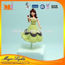 Hermosos juguetes de decoración de pasteles de plástico