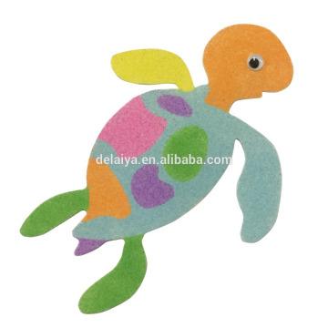 2017 новое прибытие яркий цвет DIY песок искусства комплект картины на заказ для детской фантазии